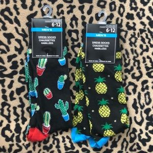 Other - MENS DRESS SOCKS PINEAPPLE AND CACTUS 6-12